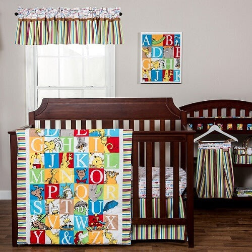 Crib Bedding Set 3 Piece - Dr. Seuss™ Alphabet Seuss  - Roll Up Baby