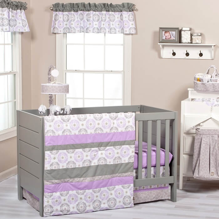 Crib Bedding Set 3 Piece - Florence  - Roll Up Baby