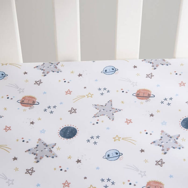Crib Bedding Set 4 Piece - Sammy and Lou Starlight - Roll Up Baby