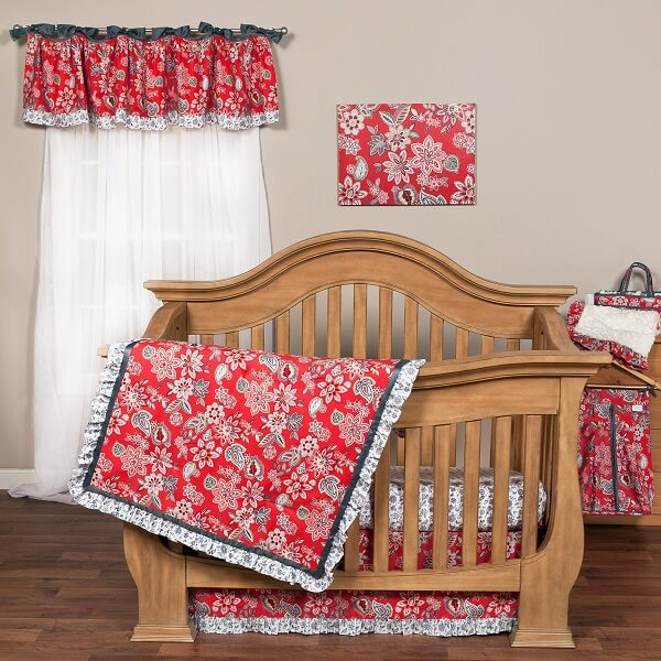 Crib Bedding Set 3 Piece - Waverly® Charismatic - Roll Up Baby