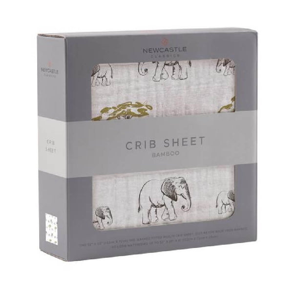 Cute Crib Sheet - Rhinos and Elephants - Roll Up Baby