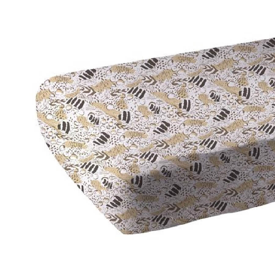 Fitted Crib Sheet - Animal Print - Roll Up Baby