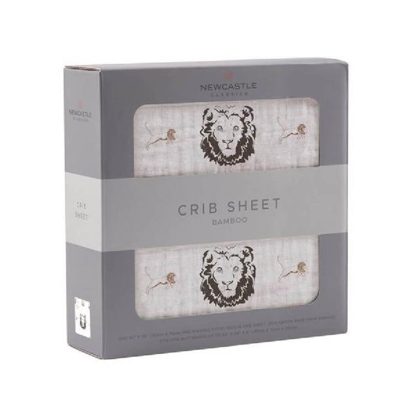 Fitted Crib Sheet - Hear Me Roar Lion - Roll Up Baby