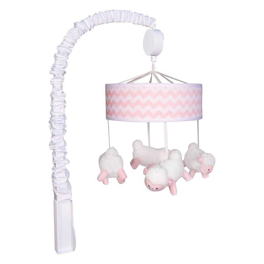 Musical Crib Mobile - Pink Sky  - Roll Up Baby