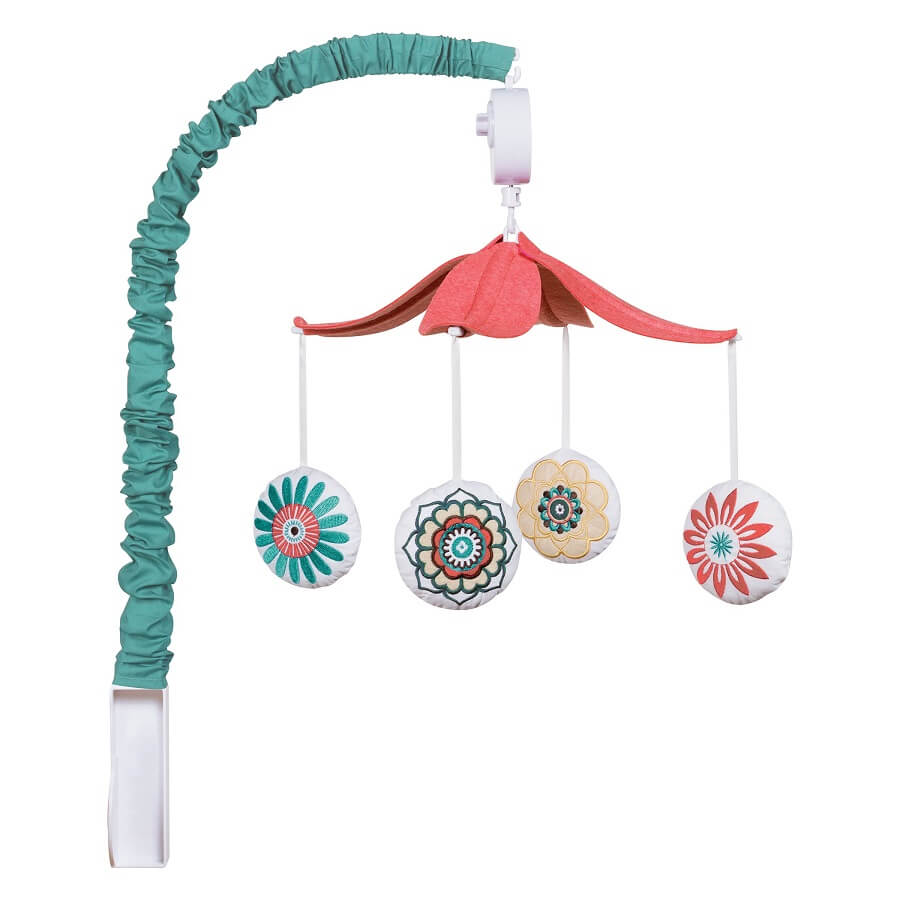 Musical Crib Mobile - Waverly® Pom Pom Play - Roll Up Baby