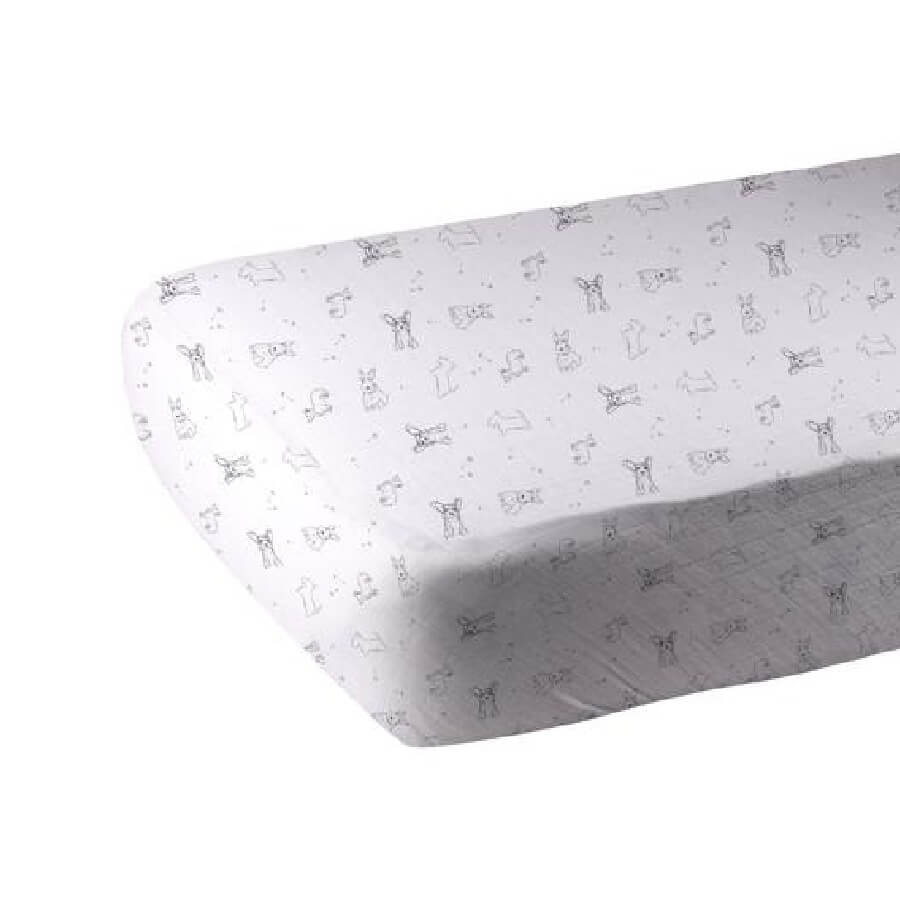 Organic Crib Sheet - Corgi - Roll Up Baby