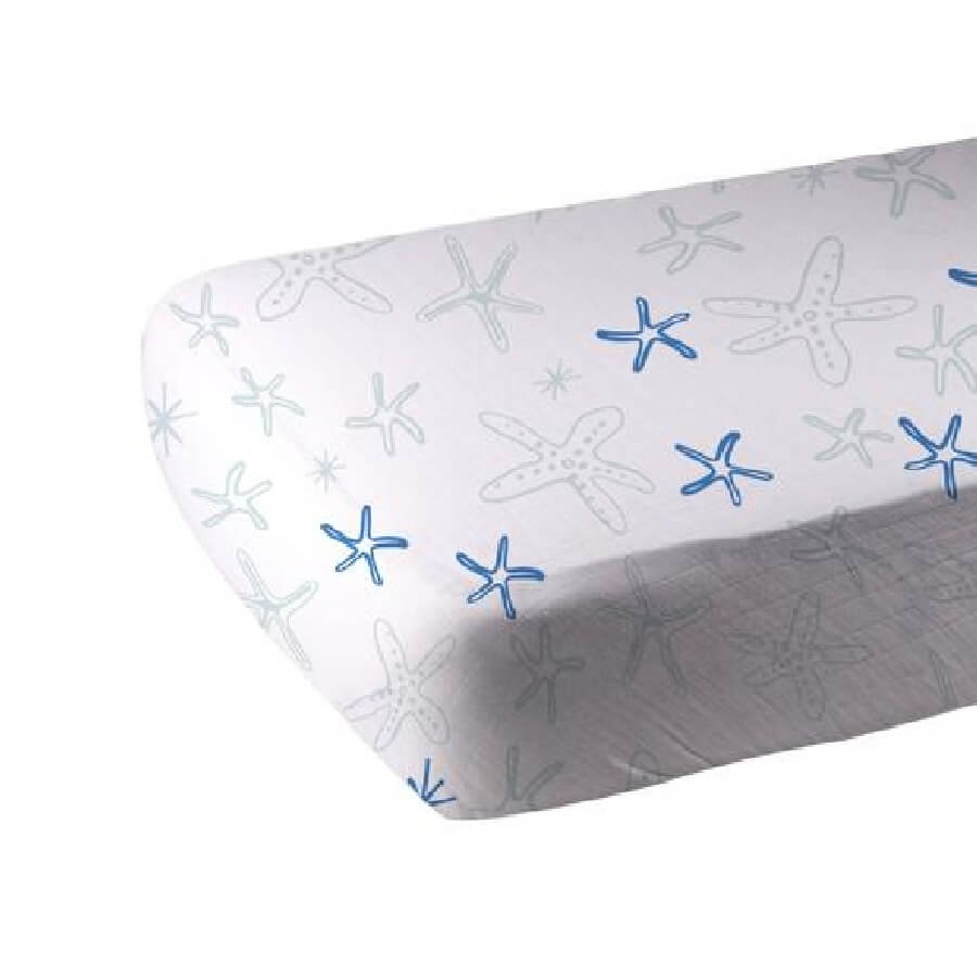 Organic Crib Sheet - Starfish - Roll Up Baby