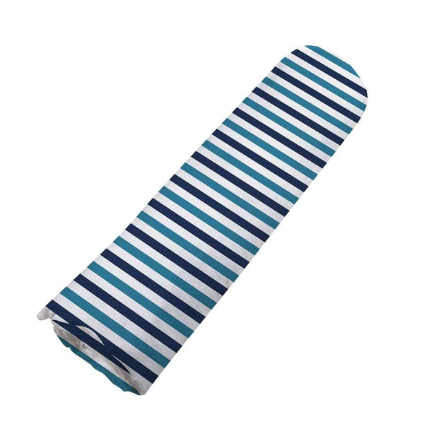 Organic Swaddle Blanket- Blue and White Stripe - Roll Up Baby