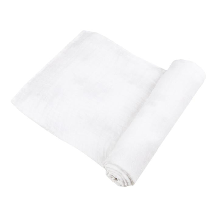Organic Swaddle Blanket - Pure White - Roll Up Baby