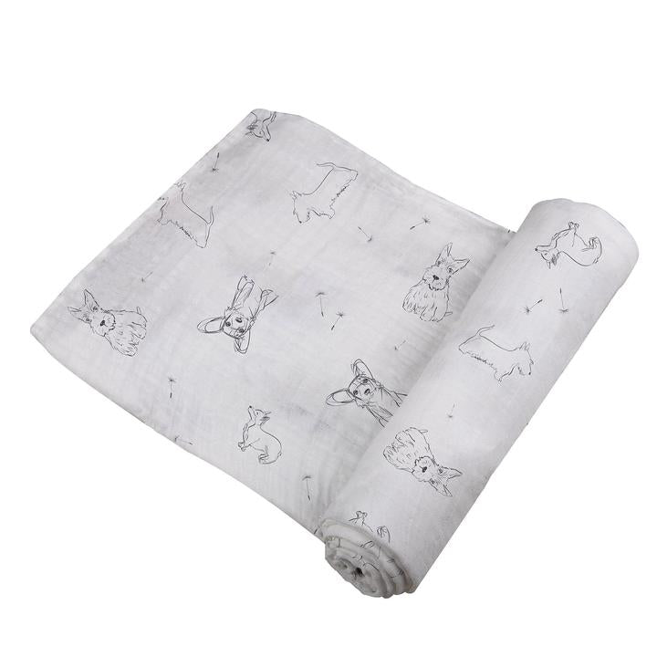 Swaddle Wrap for Newborn Corgi - Roll Up Baby