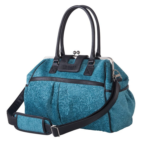 Waverly® Stetson Lagoon Framed Diaper Bag - Roll Up Baby