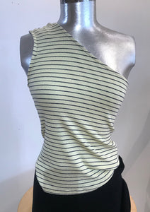 Michael Stars Striped OneShoulder Tee
