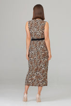 Load image into Gallery viewer, Joseph Ribkoff sleeveless mixed animal print dress