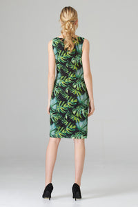 Joseph Ribkoff sleeveless tropical print dress