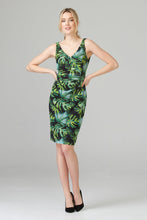 Load image into Gallery viewer, Joseph Ribkoff sleeveless tropical print dress
