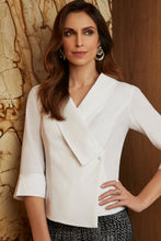 Load image into Gallery viewer, Joseph Ribkoff Stretch Crepe Surplice 3/4 Blouse