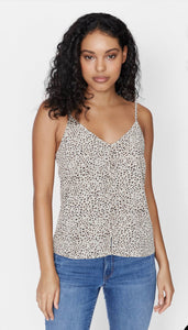 Sanctuary Mini Leopard Print Button Front Tank