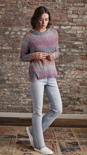 Load image into Gallery viewer, Ecru Oversized Tweed Sweater In Multi Ombre
