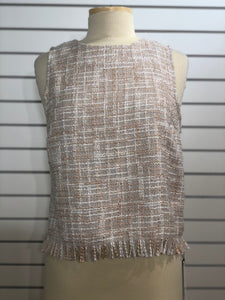 Maven West Tweed Fray Tank