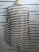 Load image into Gallery viewer, Eileen Fisher Striped Crewneck Tunic Sweater