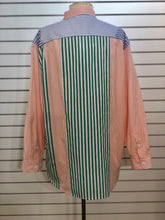 Load image into Gallery viewer, French Connection Adisa colorblock mixed stripe boyfriend blouse
