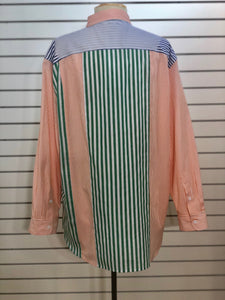 French Connection Adisa colorblock mixed stripe boyfriend blouse