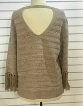Load image into Gallery viewer, Nic+Zoe Fringe Cuff Sweater