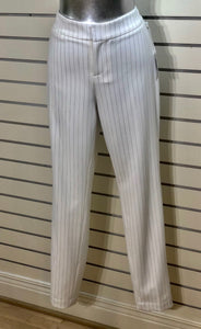 Ecru Mayfair Pinstriped Ankle Pant