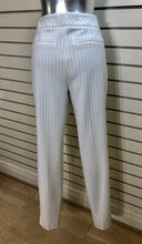 Load image into Gallery viewer, Ecru Mayfair Pinstriped Ankle Pant