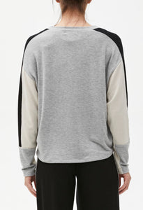Michael Stars Colorblock Brushed Madison Zephyr Relaxed Sweatshirt