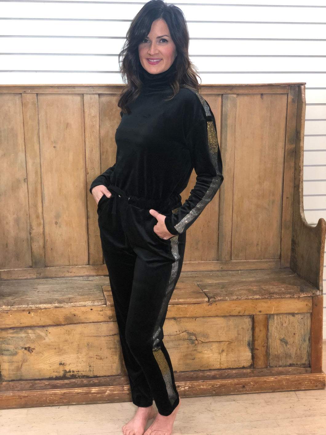 Juicy Couture 25th Anniversary Velour Turtleneck Jumpsuit