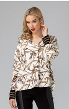 "Load image into Gallery viewer, Joseph Ribkoff ""Hermes"" Print Blouse"