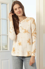 Load image into Gallery viewer, Lisa Todd Waffle Pop Tie-Dye Thermal Knit Long Sleeved Henley