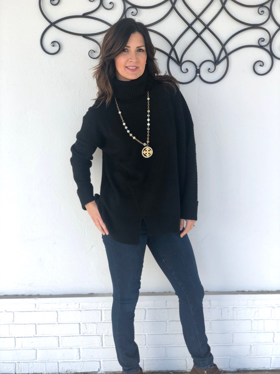 French Connection Sophia turtleneck tunic