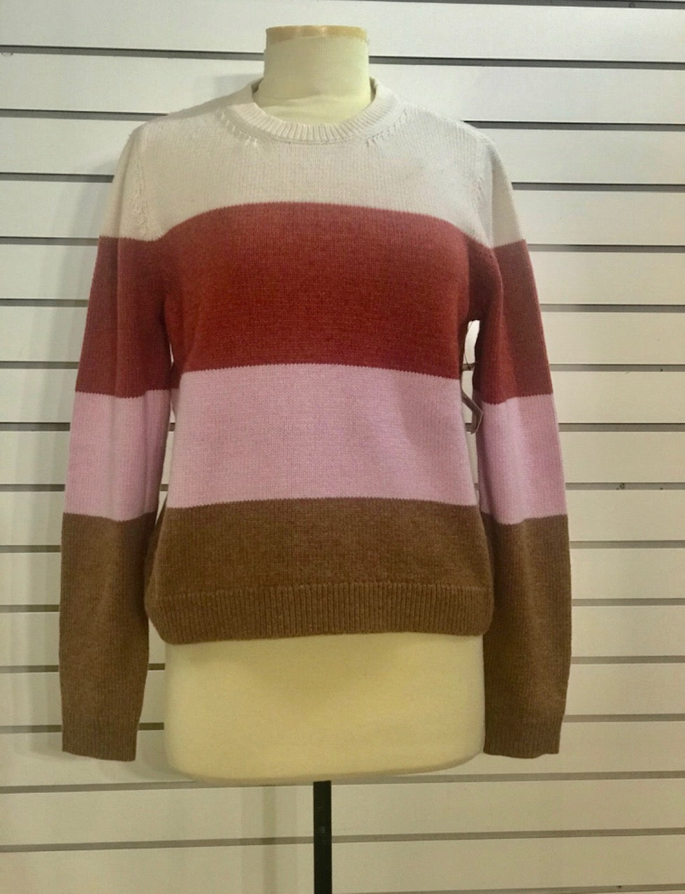 Lilla P multi stripe pullover sweater