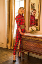 Load image into Gallery viewer, Gretchen Scott Tartan Plaid Pull On Slim Pant