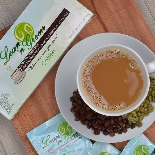 Lean N' Green Coffee Drink Mix with Psyllium Fiber Husk & Garcinia Cambogia