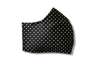 Navy Polka Dot Tailored Face Mask