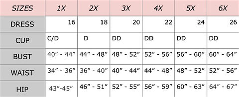 size chart 2- curvynbeautiful