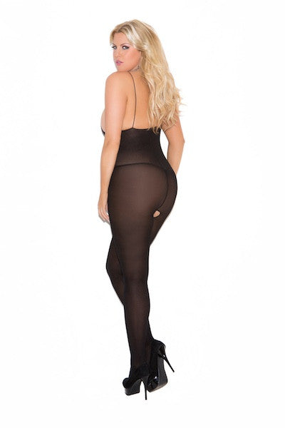 Opaque body stocking - plus size bodystocking - CurvynBeautiful