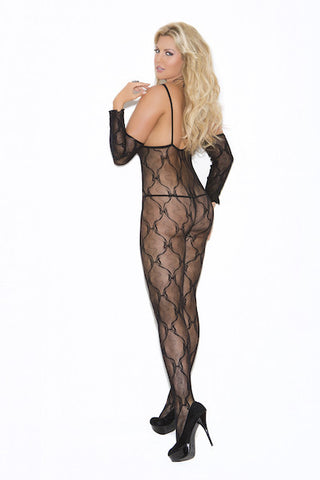 Bow tie lace bodystocking - plus size bodystocking - CurvynBeautiful