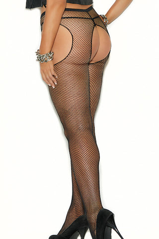 Fishnet suspender pantyhose. - plus size pantyhose - CurvynBeautiful