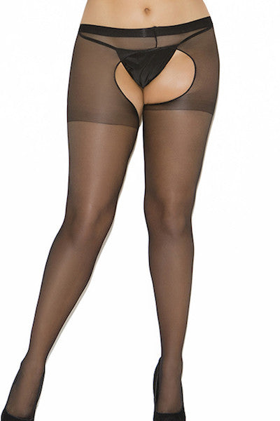 Crotchless pantyhose - plus size pantyhose - CurvynBeautiful