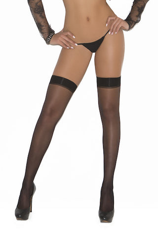 Sheer thigh hi with rhinestone back seam - plus size stocking - Curvynbeautiful Plus size lingerie - 2