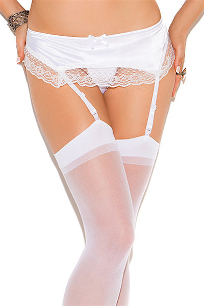 Satin Garter Belt - plus size garter belt - CurvynBeautiful