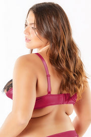 Satin shelf cup bra - plus size bra set - CurvynBeautiful