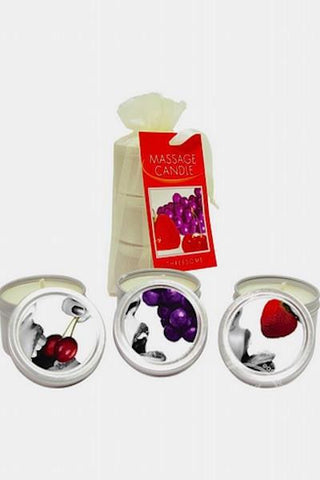 Edible Candle Threesome Round Massage Oil Candles - Massage oil candle - CurvynBeautiful