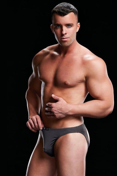 Low rise brief grey