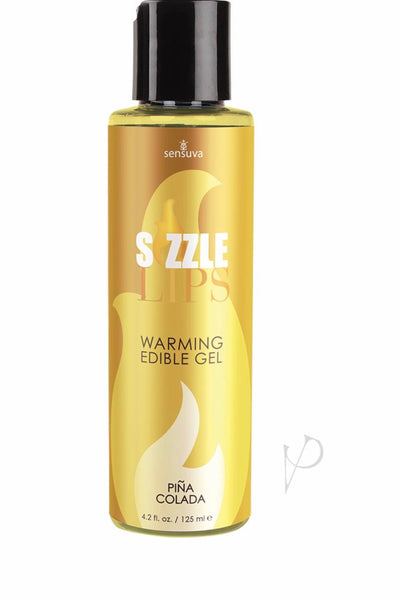 Sizzle Lips Warming Edible Gel Pina Colada 4.2 Ounce - Massage oil candle - CurvynBeautiful