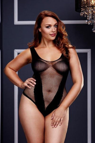 Fishnet V teddy - Teddy - Body - CurvynBeautiful